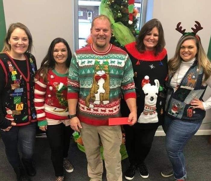 SERVPRO has a tacky sweater Christmas party!